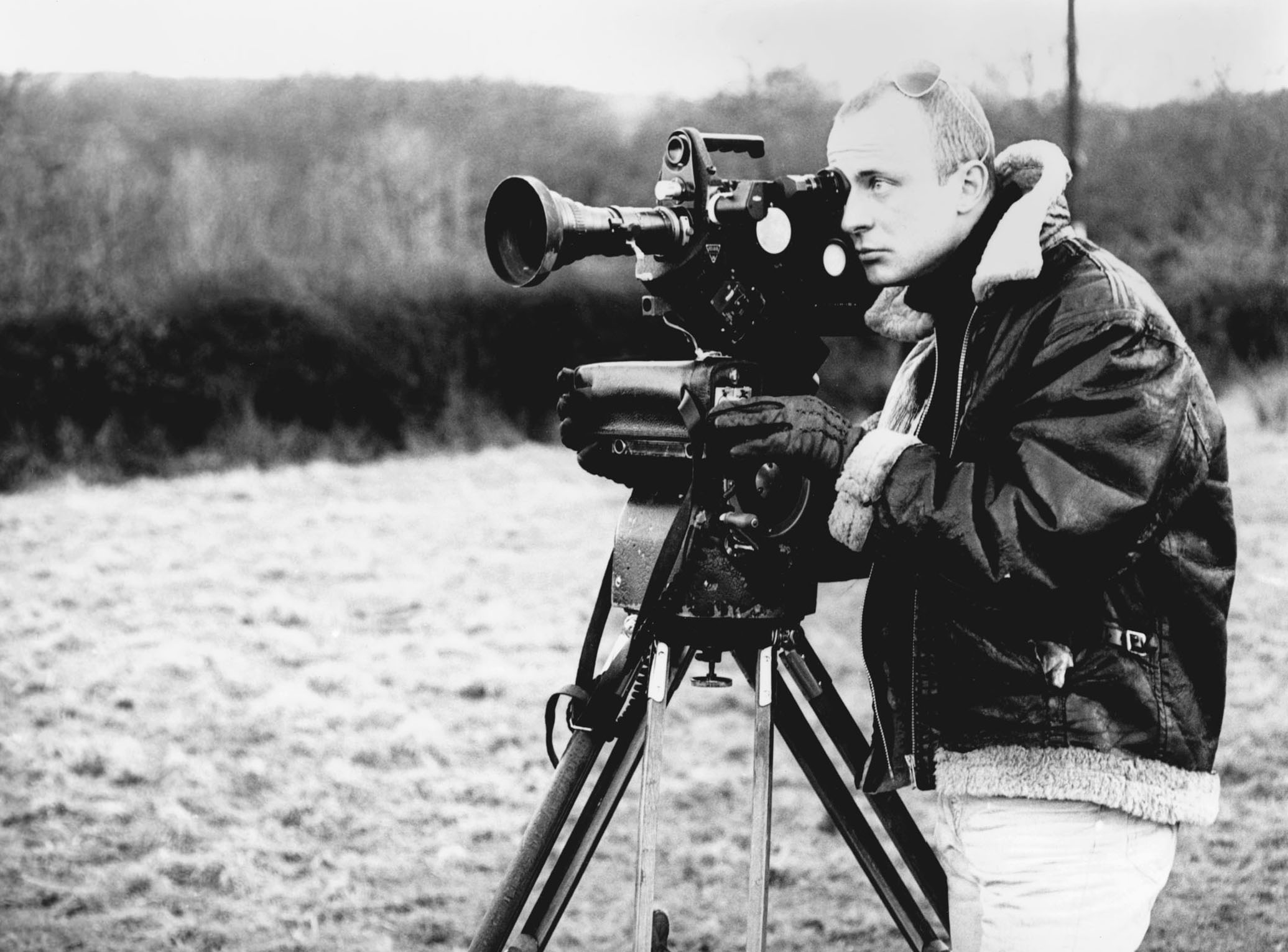 Gerry Schum bei Dreharbeiten zu Land Art, 1969