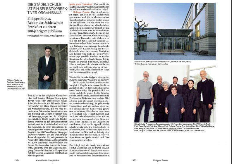 Interview mit Philippe Pirotte, Rektor der Städelschule Frankfurt